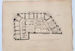 4 Plans Du Concour Facades De Paris 1901 Villa Gagnante - Litografía