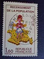 """2000-2009   Timbre  Oblitéré N°   2202   """" Recensement Population    """" Couleur """"8 Decalé""""    0.50  - Photo 4 - France"""