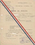Gouvernement Provisoire De La République Française - Ordre De Mission Baden Baden 1945 - Documenten