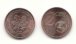2 Cent, 2019, Prägestätte (A) Vz, Sehr Gut Erhaltene Umlaufmünze - Germany