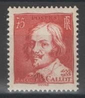 France - YT 306 ** MNH - TB - 1935 - Jacques Callot - France