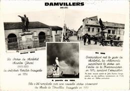 DAMVILLERS (55) La Statue Du Maréchal Maurice Gérard - En 1914, 1915 Et 1950 - Très Très Rare - Belle Carte - Damvillers