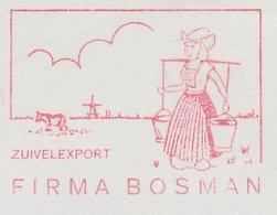 Meter Cut Netherlands 1963 Milkmaid - Costume - Windmill - Cow - Levensmiddelen