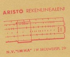 Meter Cut Netherlands 1963 Slide Rule - Wetenschappen