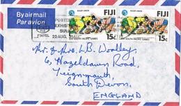 32799. Carta Aerea SUVA (Fiji Islands) 1979. Slogan POSTEL 79, Telecomunications - Fiji (1970-...)