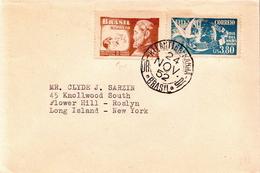 Postal History Cover: Brazil Stamps On Cover - Columbiformes