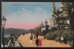 CPA MONACO - Monte-Carlo, Les Terrasses Et Le Casino - LL - Monte-Carlo