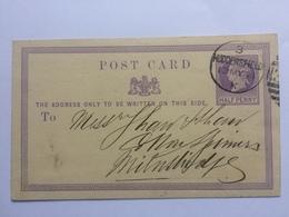 GB Victoria 1871 Postcard Huddersfield Duplex To Milnsbridge - 1840-1901 (Victoria)