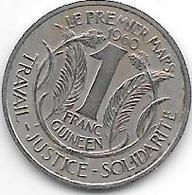 *guinea  1 Franc  1962  Km 4  Unc !!! - Guinea