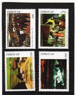 POL1870 DÄNEMARK - FÄRÖER 1991  Michl 223/26 ** Postfrisch SIEHE ABBILDUNG - Färöer Inseln