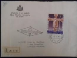 San Marin Lettre Recommandee De 1967 Pour Castres - Lettres & Documents