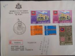 San Marin Lettre Recommandee De 1971 Pour Castres - Lettres & Documents