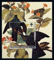 Burkina Faso 1985, Birds, Audubon Scout, BF IMPERFORATED - Burkina Faso (1984-...)