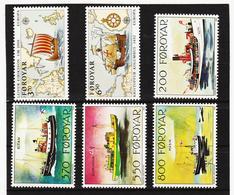POL1872 DÄNEMARK - FÄRÖER 1992  Michl 227/32 ** Postfrisch SIEHE ABBILDUNG - Färöer Inseln