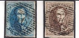P 56 HARELBEKE NR.6+7 - 1851-1857 Médaillons (6/8)
