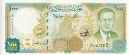SYRIA 1000 LIRA POUNDS 1997 P-111 Prefix( K ) PRINTED IN EU . WITH SYRIA MAP UNC - Syrie
