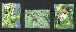 RC 12722 POLYNÉSIE N° 1019 / 1021 SÉRIE FAUNE FLORE NEUF ** - Polynésie Française