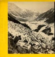 RARE Chamonix En Hiver 1865 * Glacier Des Bois * Photo Stéréoscopique Tairraz - Voir Descriptif - Stereoscopic