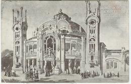 ESPOSIZIONE Di MILANO 1906 - Salone Dei Concerti Al Parco N° 17 - Arch. Locati -b/n-viaggiata 1906-POSTE MILANO-LIVORNO - Esposizioni