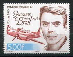 RC 12723 POLYNÉSIE N° 1022 - 500F JACQUES BREL AVION NEUF ** - Polynésie Française