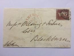 GB Victoria 1846 Wrapper Clitheroe To Blackburn - 1840-1901 (Victoria)