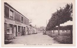 28 Eure Et Loir -  SAINT-LUCIEN -  La Place - Café - Autres Communes