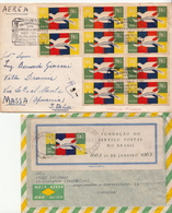 Postal History Cover: Brazil Stamps And SS On 2 Covers - Post