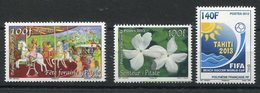 RC 12726 POLYNÉSIE N° 1033 / 1034 + 1041 TIMBRES ÉMIS EN 2013 NEUF ** - Polynésie Française