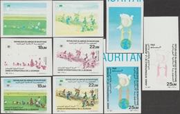 Mauritanie 1986 Y&T 572/4. Essais De Couleurs. Année Internationale De La Jeunesse, Riz, Développement, Colombe, Dune - Enfance & Jeunesse
