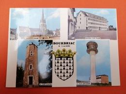 -Bourbriac-Carte Multi Vues- - Sonstige Gemeinden