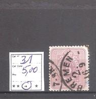 Allemagne Reich : N° 31 Oblitéré Cote Yvert & Tellier 2006: 5,00 €. - Allemagne
