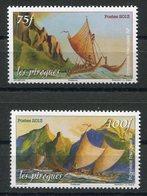 RC 12727 POLYNÉSIE N° 1042 / 1043 PIROGUES DE LA MER NEUF ** - Polynésie Française