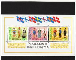 POL1841 DÄNEMARK - FÄRÖER 1983  Michl BLOCK 1 ** Postfrisch SIEHE ABBILDUNG - Färöer Inseln