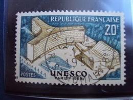 """1950-59  Timbre Oblitéré N°  1177   """" Unesco     """"     0.15 - France"""