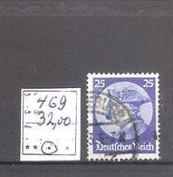 Allemagne Reich : N° 469 Oblitéré Cote Yvert & Tellier 2006: 32,00 €. - Allemagne