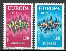 Andorra 1972 EuropaYvert 217, 218 MNH - Andorra