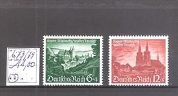 Allemagne Reich : N° 673/74 ** MNH Cote Yvert & Tellier 2006: 11,00 €. - Germania