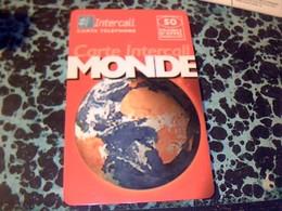 TELECARTE Monde INTERCALL Prepaid Theme Planète Terre ANNÈE ?? - Espace