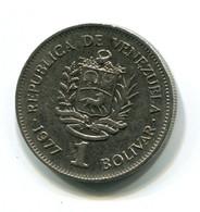 1977 Venezuela 1 Bolivar Coin - Venezuela