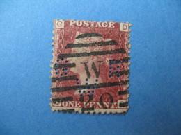Perforé Perfin Lochung , Great Britain QV GRW  - Grande Bretagne Queen Victoria See, à Voir - Perfins