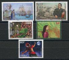 RC 12736 POLYNÉSIE N° 1085 / 1089 - TIMBRES ÉMIS EN 2015 NEUF ** - Polynésie Française