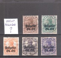 Allemagne Reich : Occupation En Pologne 5 Timbres Cote Yvert & Tellier 2006:  ? €. - Occupation 1914-18