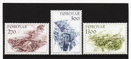 POL1849 DÄNEMARK - FÄRÖER 1986  Michl 142/44 ** Postfrisch SIEHE ABBILDUNG - Färöer Inseln