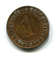 1923 Germany 1 Rentenpfennig Coin - 1 Rentenpfennig & 1 Reichspfennig
