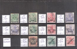 Allemagne Reich : Occupation Au Levant 11 Timbres Cote Yvert & Tellier 2006: 28,00 €. - Occupation 1914-18