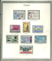 FILIPPINE    PAGINA  CON  FRANCOBOLLI - Philippines