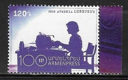 ARMENIA, 2018, MNH, ARMENIAN TELEGRAPH AGENCY, MEDIA, 1v - Telecom