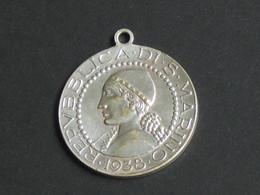 Monnaie De 5 Lires Montée En Médaillon - Republica Di S Marino 1938 - Fortis Intemperavtia   **** EN ACHAT IMMEDIAT **** - Saint-Marin