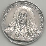 Pavullo 1964 Raimondo Montecuccoli, III Centenario Battaglia Sulla Raab, Ag. Gr. 30, Cm. 4,5. - Italia