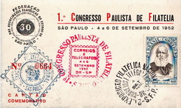 Postal History: Brazil Philatelic Congress On PPC - Philatelic Exhibitions